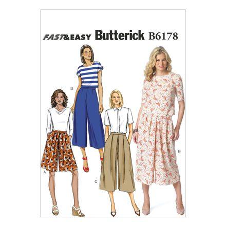 Butterick Schnittmuster - 6178 - Damen - Culotte-Hose