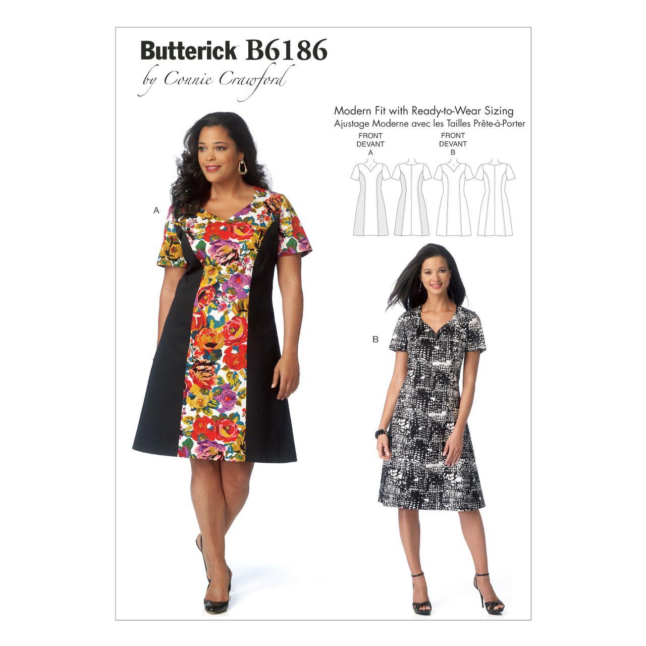 Butterick Schnittmuster - 6186 - Damen - Kleid SCHNITTE ...
