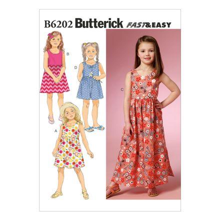 Butterick Schnittmuster - 6202 - Kinder - Kleid, Culotte-Hose