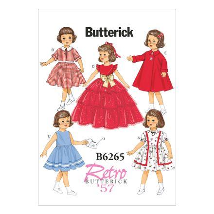 Butterick Schnittmuster - 6265 - Kinder - Puppenbekleidung
