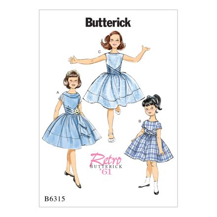 Butterick Schnittmuster - 6315 - Kinder - Retrokleid