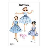 Butterick Schnittmuster - 6315 - Kinder - Retrokleid 001