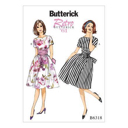 Butterick Schnittmuster - 6318 - Damen - Retrokleid