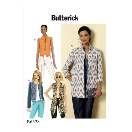 Butterick Schnittmuster - 6328 - Damen - Jacke, Weste