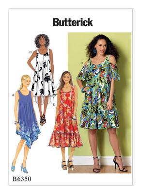 Butterick Schnittmuster - 6350 - Damen - Kleid