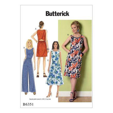 Butterick Schnittmuster - 6351 - Damen - Kleid