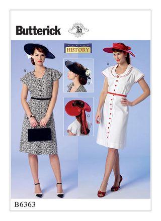 Butterick Schnittmuster - 6363 - Damen - Retrokleid