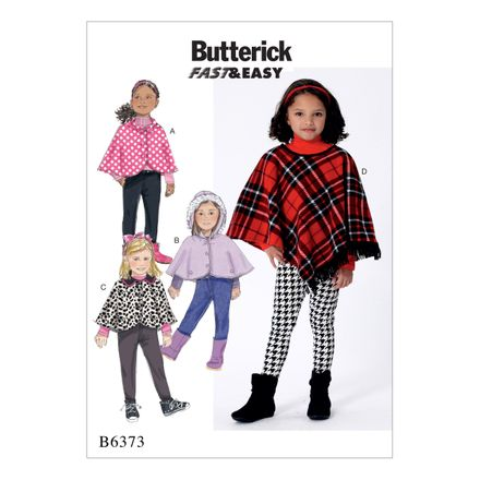Butterick Schnittmuster - 6373 - Kinder - Poncho, Cape