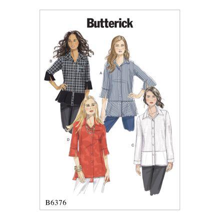 Butterick Schnittmuster - 6376 - Damen - Bluse