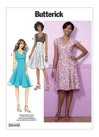 Butterick Schnittmuster - 6448 - Damen - Kleid