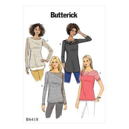 Butterick Schnittmuster - 6418 - Damen - Shirt