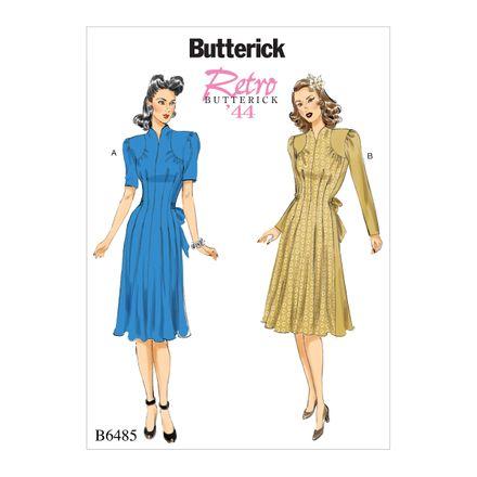 Butterick Schnittmuster - 6485 - Damen - Retrokleid