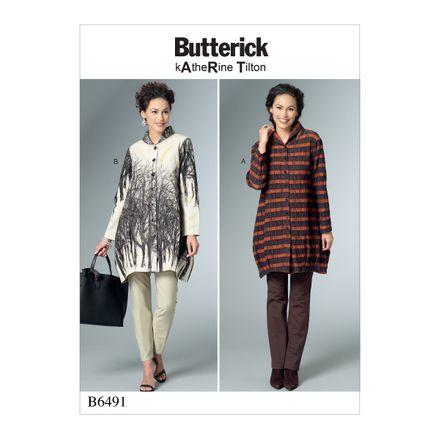 Butterick Schnittmuster - 6491 - Damen - Blusenshirt