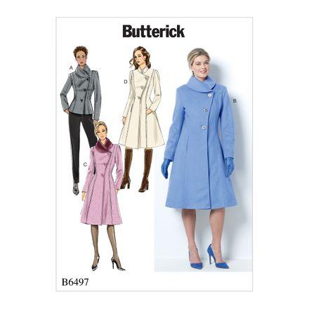 Butterick Schnittmuster - 6497 - Damen - Jacke, Mantel – Bild 1