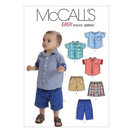 McCall´s Schnittmuster - 6016 - Kinder - Jungen Shirt & Shorts