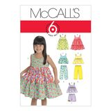 McCall´s Schnittmuster - 6017 - Kinder - Kleid 001