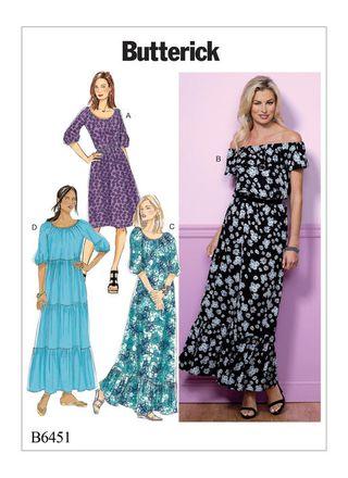 Butterick Schnittmuster - 6451 - Damen - Kleid