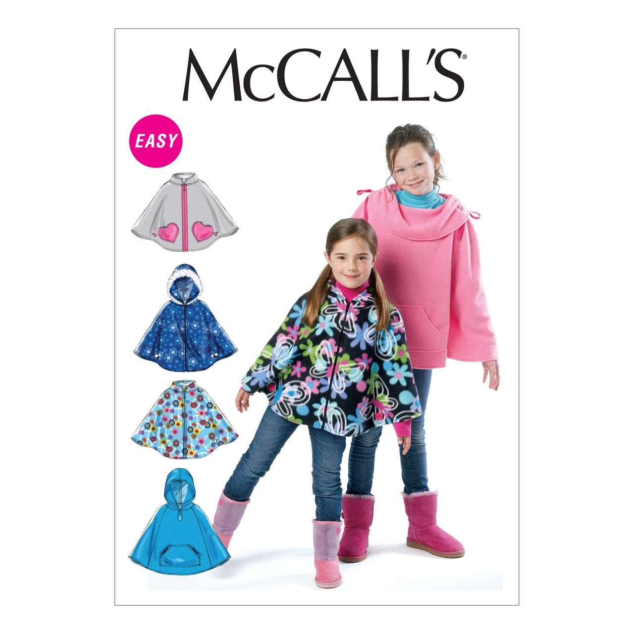 McCall´s Schnittmuster - 6431 - Kinder - Poncho SCHNITTE ...