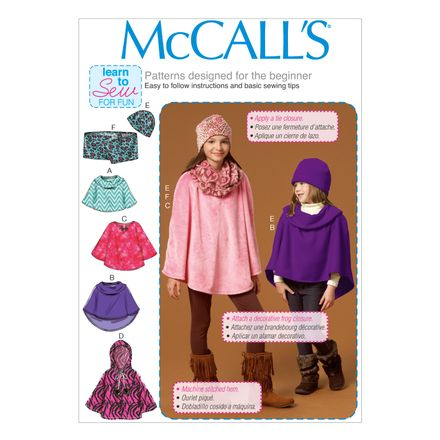 McCall´s Schnittmuster - 7012 - Kinder - Poncho