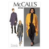 McCall´s Schnittmuster - 7262 - Damen - Sweater, Mantel, Poncho 001