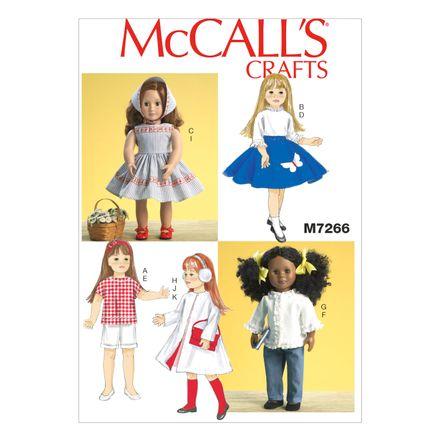 McCall´s Schnittmuster - 7266 - Kinder - Puppenbekleidung