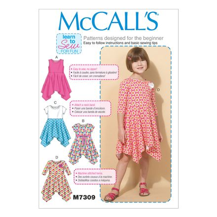 McCall´s Schnittmuster - 7309 - Kinder - Kleid