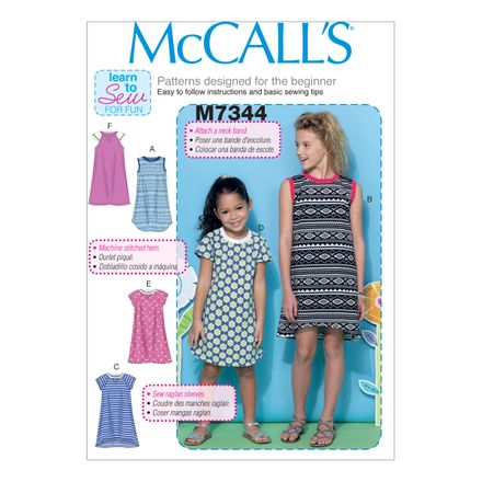 McCall´s Schnittmuster - 7344 - Kinder - Kleid