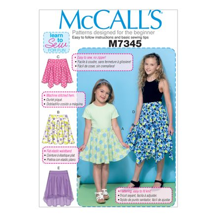 McCall´s Schnittmuster - 7345 - Kinder - Rock
