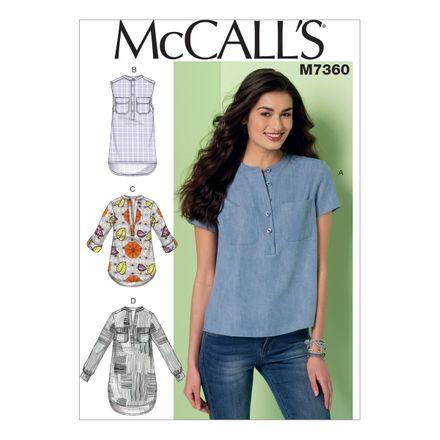 McCall´s Schnittmuster - 7360 - Damen - Shirt