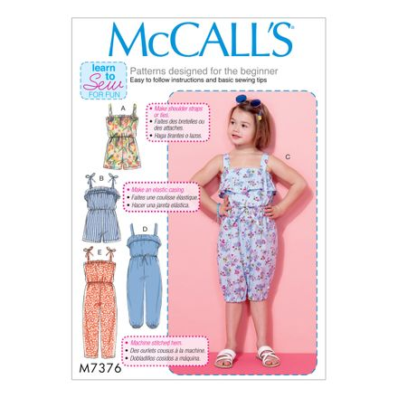 McCall´s Schnittmuster - 7376 - Kinder - Jumpsuit