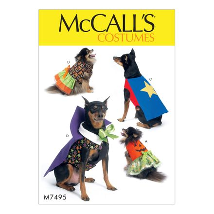 McCall´s Schnittmuster - 7495 - Accessoires - Hundemantel