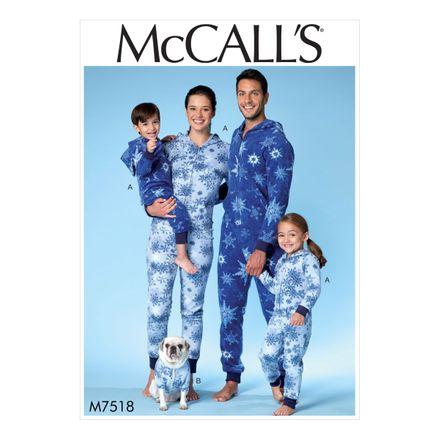 McCall´s Schnittmuster - 7518 - Kinder und Erwachsene - Homewear