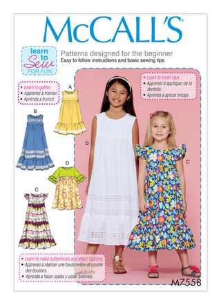 McCall´s Schnittmuster - 7558 - Kinder - Kleid