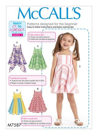 McCall´s Schnittmuster - 7587 - Kinder - Kleid