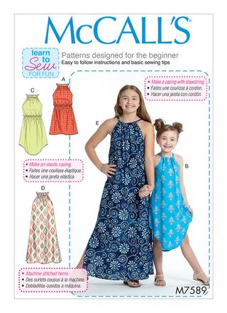 McCall´s Schnittmuster - 7589 - Kinder - Kleid