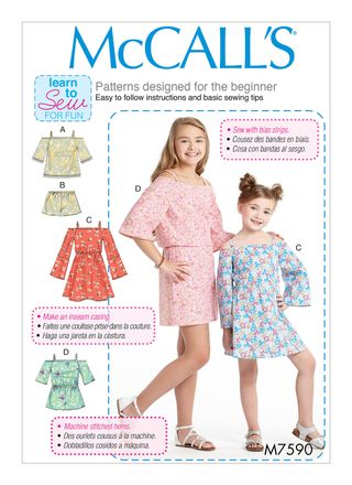 McCall´s Schnittmuster - 7590 - Kinder - Kleid