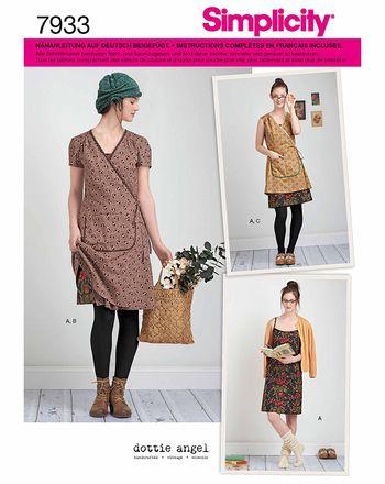 Simplicity Schnittmuster 7933 - Damen Wickel- oder Trägerkleid