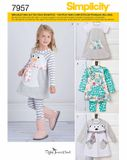 Simplicity Schnittmuster 7957 - Kinder Kleid, Tunika & Leggings 001