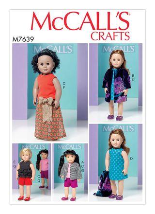 McCall´s Schnittmuster - 7639 - Kinder - Puppenbekleidung