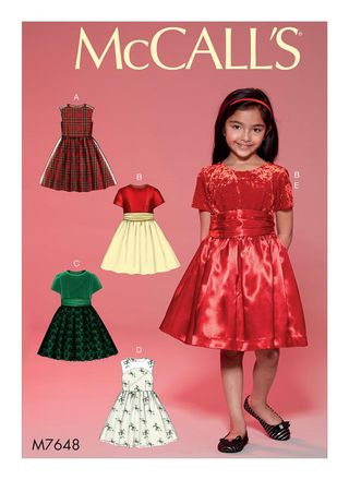 McCall´s Schnittmuster - 7648 - Kinder - Kleid