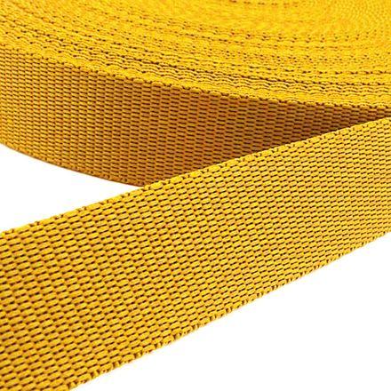 Gurtband - gelb, Breite: 25 mm