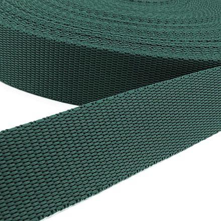 Gurtband - grün, Breite: 25 mm