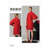 Vogue Schnittmuster V1565 - Damen elegantes Designer-Kleid 001
