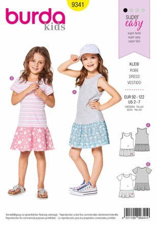 Burda Schnittmuster - 9341 - Kinder Kleid