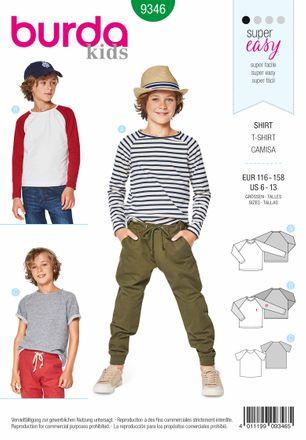 Burda Schnittmuster - 9346 - Kinder Shirt