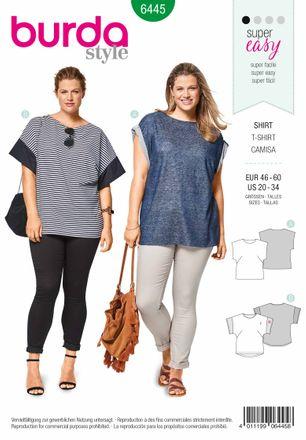 Burda Schnittmuster - 6445 - T-Shirt