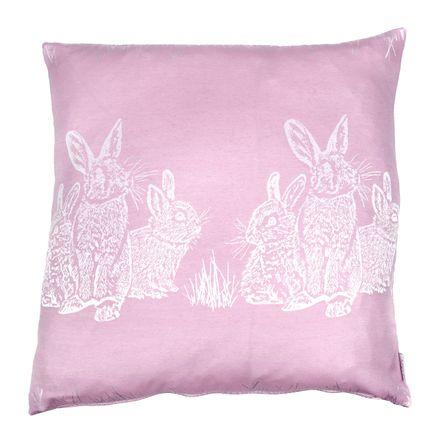 Kissenhülle - Osterhasen - rosa - 50x50 cm