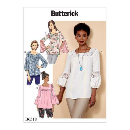 Butterick Schnittmuster - 6518 - Damen - Shirt