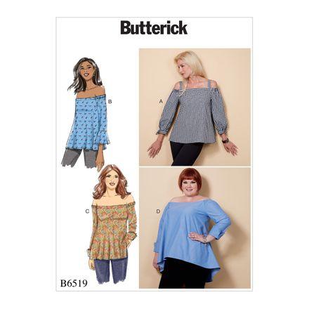 Butterick Schnittmuster - 6519 - Damen - Shirt