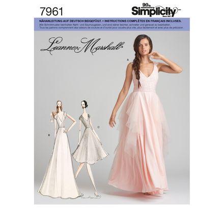 Simplicity Schnittmuster 7961 - Damen Abendkleid